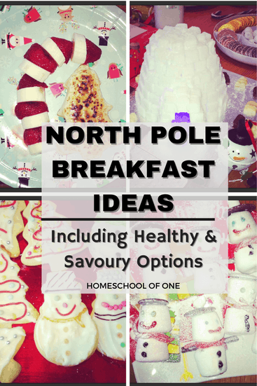 North Pole Breakfast Ideas including healthy and savory options #elfontheshelf