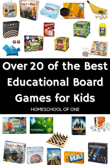 Over 20 of the best educational board games for kids, perfect for gameschool #homeschooling