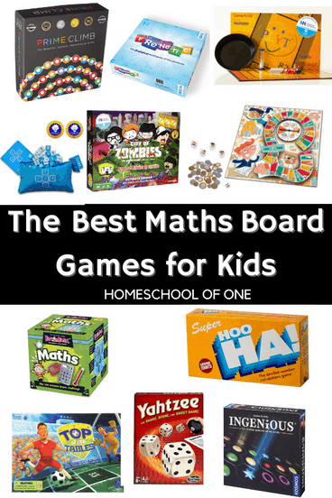 The Best Math board games that are great for gameschool #homeschool
