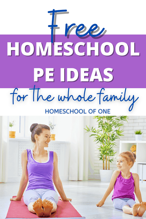 Free homeschool PE ideas for the whole family