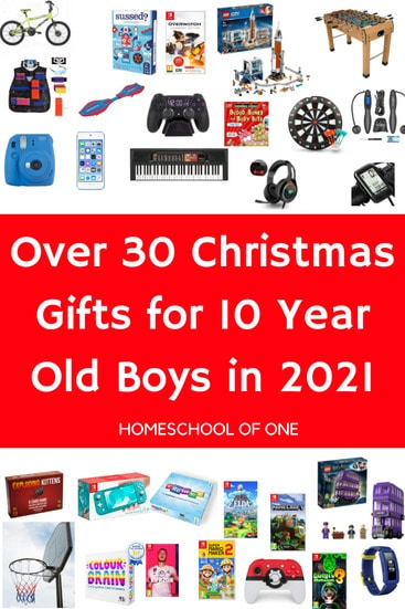 Over 30 Christmas gifts for 10 year old boys
