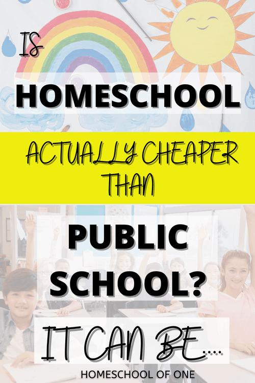 Is homeschool actually cheaper than public school?