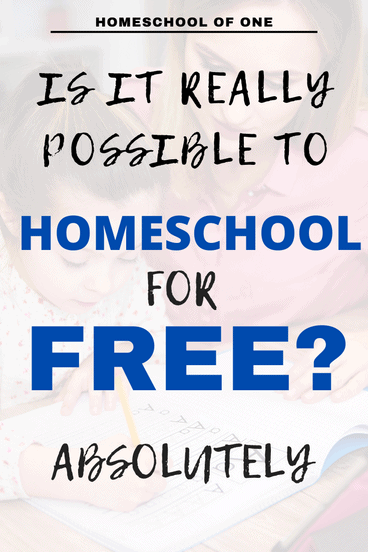 Is it really possible to homeschool for free? Absolutely see how here
