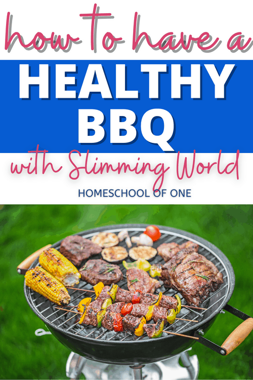 How to have a healthy BBQ, healthy recipe ideas, shopping lists #slimmingworld #bbq