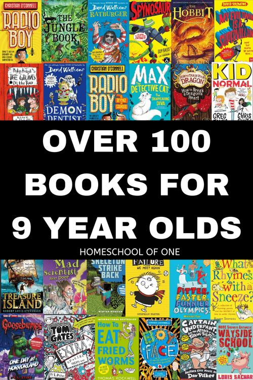 Over 100 of the best books for 9 year old boys, divided into easy to read sections. Reading books, educational books, history, geography, activity & joke books and much more   #kidsbooks