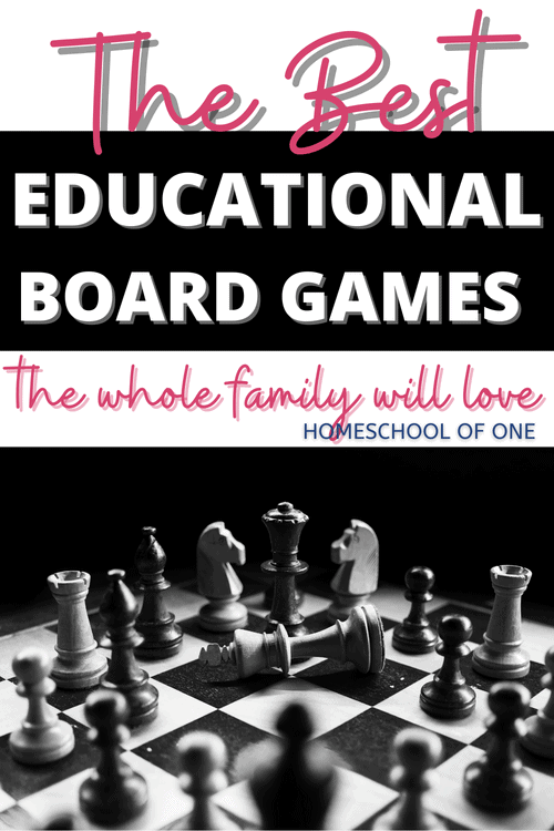 Playing board games is such a great way to bond as a family. With over 40 of the best educational board games included you can play them in your homeschool day with no feeling of guilt. The kids will love them and they are learning at the same time. These board games are broken down into subjects for ease of reading, as there is a lot! #boardgames #educationalgames #gameschooling #homeschool
