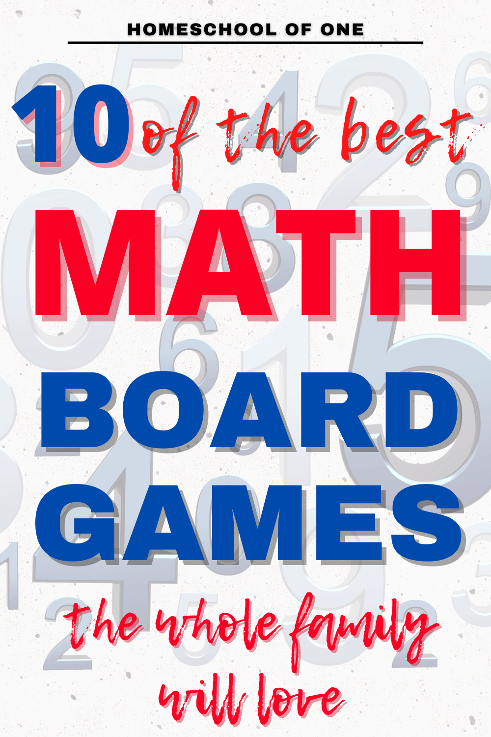 10 of the best math board games. If you love playing board games as a family, you will absolutely love these math board games, perfect for homeschool. #math #boardgames
