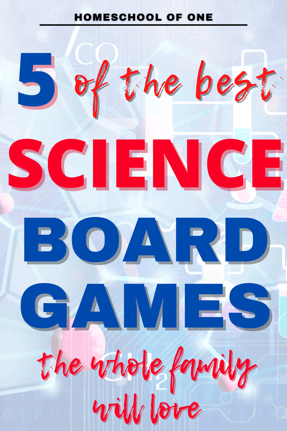 5 of the best science board games that your whole family will love. Perfect for homeschooling families #science #boardgames