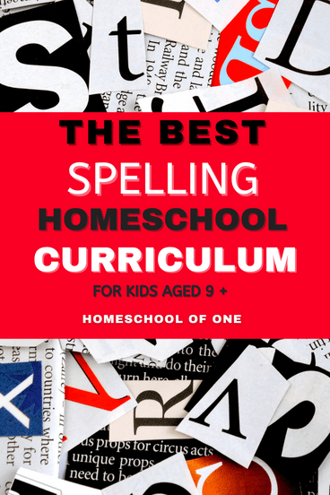 The best spelling homeschool curriculum for middle grade