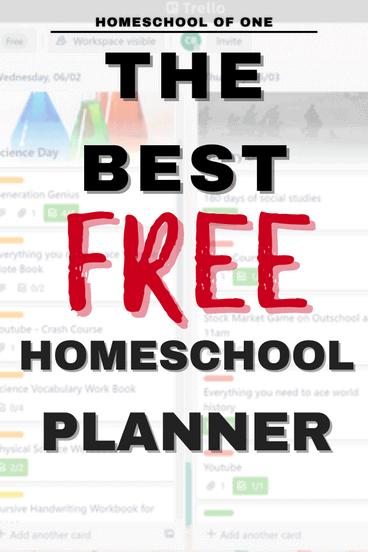 the best free homeschool planer with trello