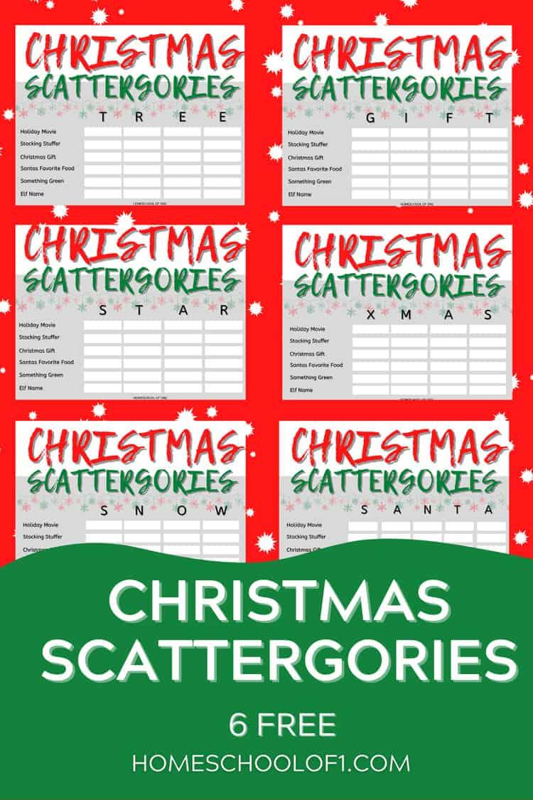 CHRISTMAS SCATTERGORIES FREE PRINTABLES