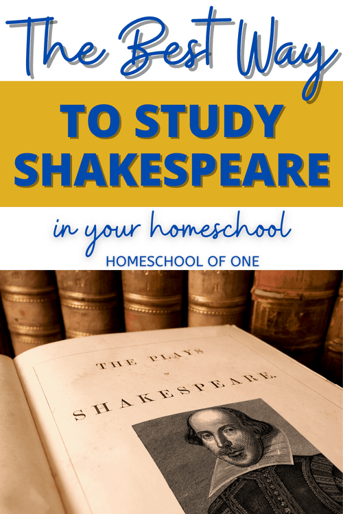 The best way to study Shakespeare in your homeschool for kids aged 8-14 #shakespeare #onlinelearning