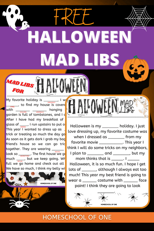 Mad Libs for Halloween, have fun this Halloween with these FREE Halloween Mad libs for kids