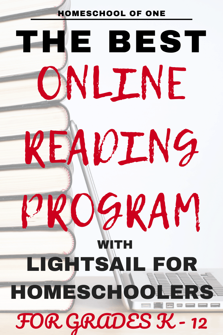 The bes online reading program for homeschoolers, with Lightsail. Suitable for kids K-12.   #reading