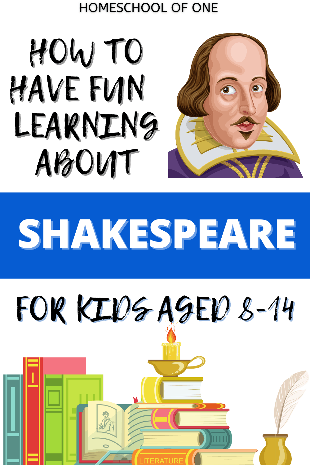 Have fun learning about Shakespeare with books, games and online courses #shakespeare