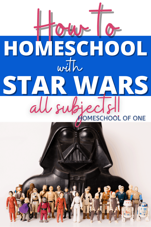 How to homeschool with Star Wars Activities! Add Star Wars into your homeschool to make learning more fun #starwars #homeschool