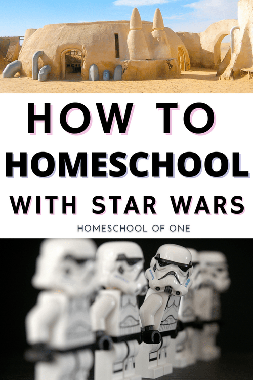 How you can homeschool the entire curriculum with Star Wars! #starwars