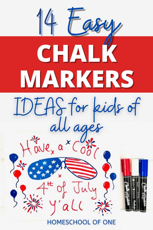 14 easy chalk marker ideas for kids  #chalkmarker #chalkola #chalk