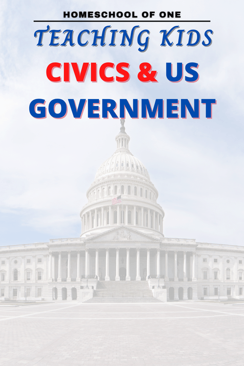 Teaching civics in your homeschool can be a harrowing task. So I wanted to create a post that shows you the easiest (and mostly FREE) way to have a homeschool civics curriculum that you will all enjoy. #government #politics #civics #homeschool