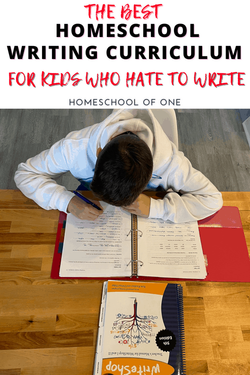 The best homeschool writing curriculum for kids you hate to write is without a doubt Writeshop. They have writing curriculum for grades k-12