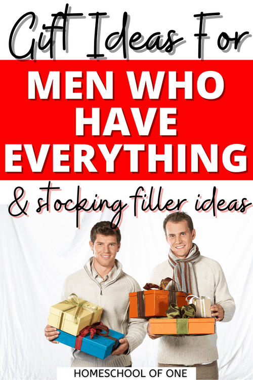 Gift Ideas for Men who have everything! 20 unique Christmas gift ideas for men including stocking stuffers  #xmas #christmasgifts #mensgifts