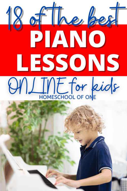 18 of the best online piano lessons for kids, inclluding live instruction, FREE piano lessons #piano