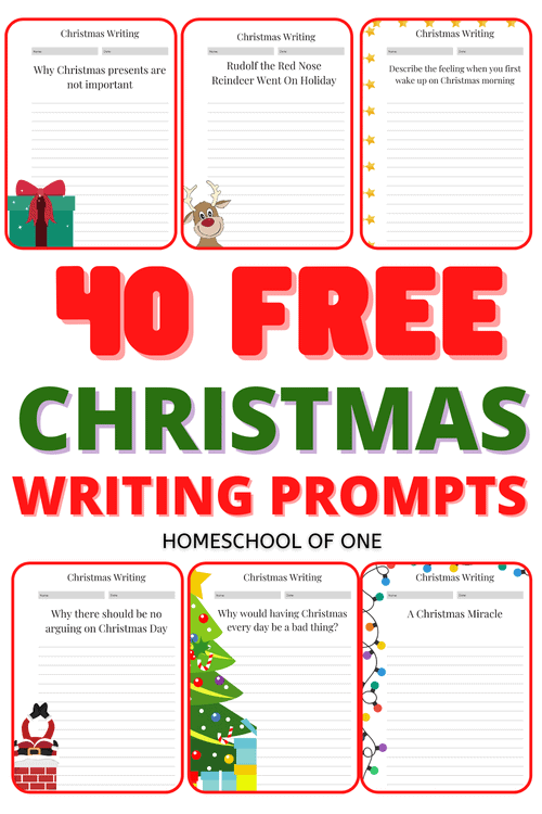 40 Free Christmas Writing Prompts for Kids