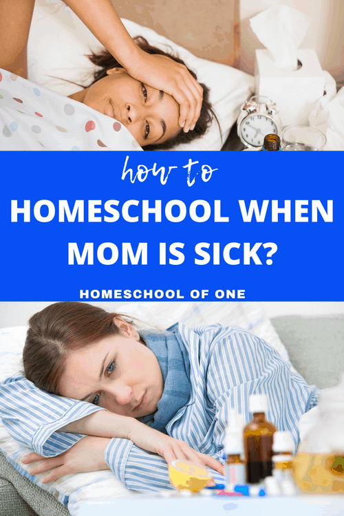 How to homeschool when mom is sick. 12 awesome ideas that will get you through. You never know the kids might actually enjoy it!!  #homeschooling