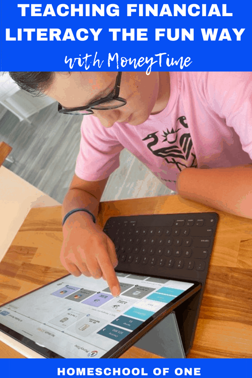 Teaching financial literacy the fun way with MoneyTime kids. A fantastic finance curriculum aimed at kids in middle grade #money #homeschool