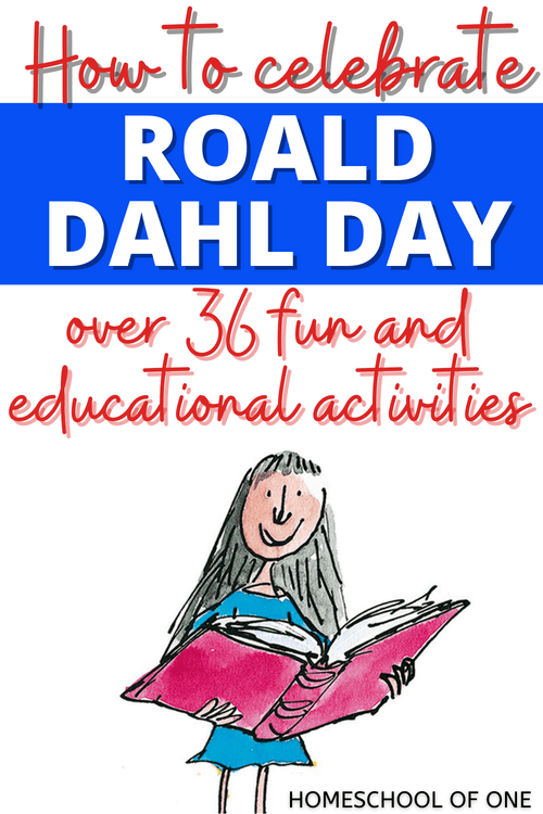 How to celebrate Roald Dahl day, with over 36 fun activities including lesson plans, coloring fun, baking and lots more #roalddahl #roalddahlday #bookday