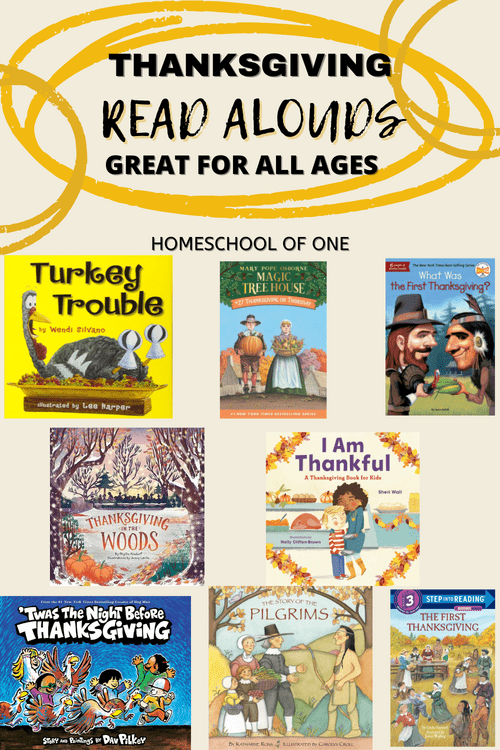 The best thanksgiving readaloud books perfect for homeschool #kidsbooks #thanksgiving #readalouds