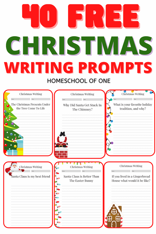 40 FREE Christmas Writing Prompts for Kids. Have fun this season with these writing prompts for elementary aged kids
