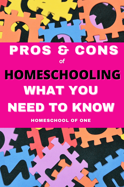 We have been learning at home now for nearly 4 years, and of course, there are many pros and cons for homeschooling. Now before I start I need to say that homeschooling is not for everyone. Homeschooling is HARD, and you need to have a lot of PATIENCE. However, it is the best thing we have ever done for our family, and we are all (mostly) loving it. Check out ALL of the pros and cons for homeschooling your children #homeschooling