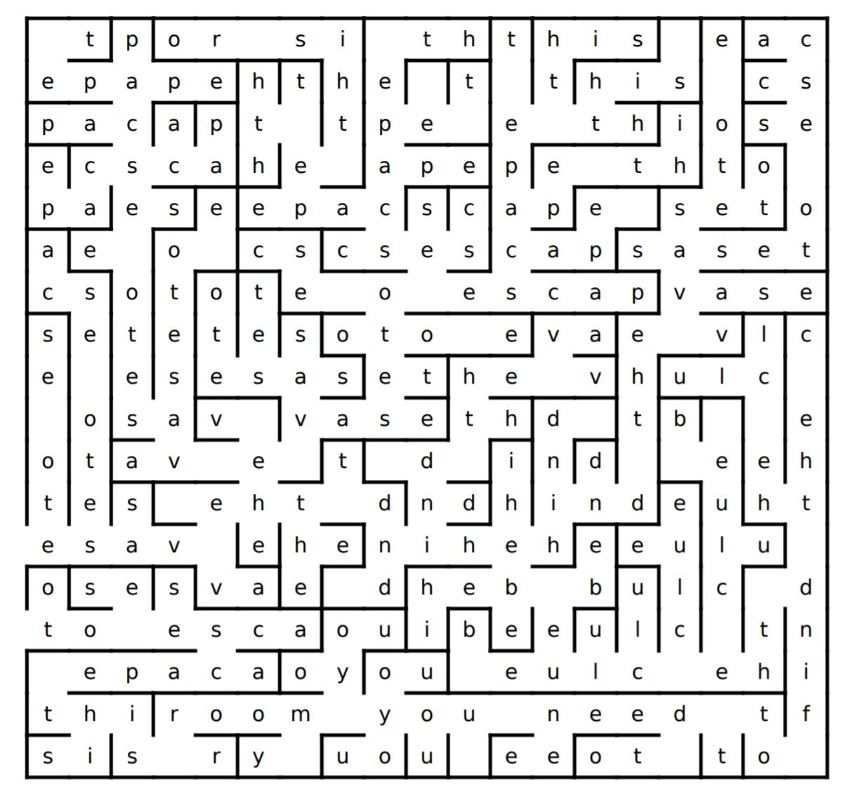 escape room puzzle word maze
