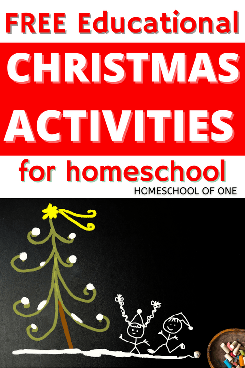 Over 40 FREE Educational Christmas activities for kids perfect for homeschooling in December