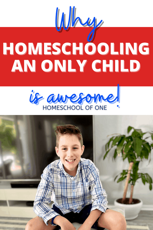 Why homeschooling an only child is awesome. I talk about both the advantages and disadvantages (there aren't many), and also give some tips on homeschool socialization #homeschooling