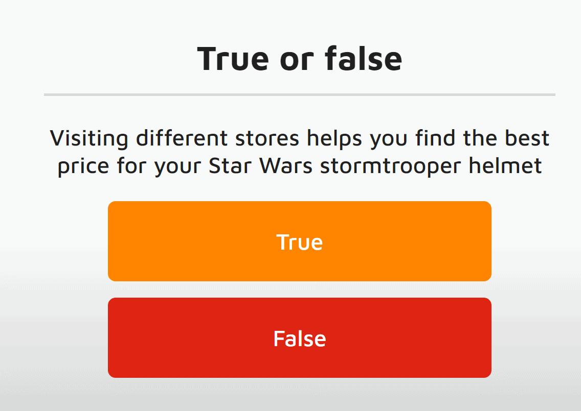 Moneytime true or false question