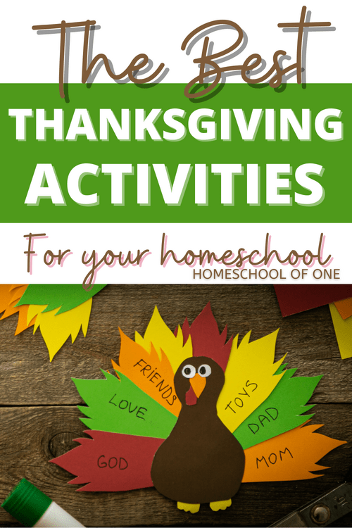 Thanksgiving will be here before we know it, so I wanted to create a huge list of Thanksgiving fun activities you can have in your homeschool. These activities can of course also be used by school kids who are on holiday that week.  All of these activities and lesson plans are aimed at kids from the ages of 5-14, so I am sure you will find something to keep them entertained. #thanksgivingfun #thanksgivingactivities #homeschool
