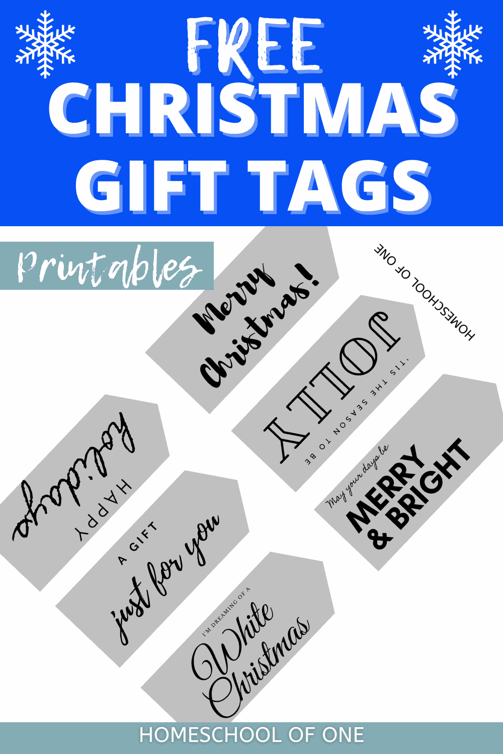Over 40 Free Christmas Printable Tags perfect for gifts for all of the family
