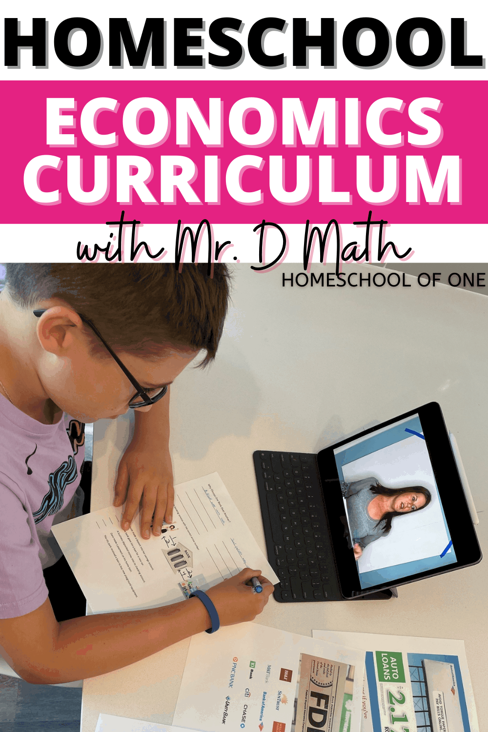 The best Homeschool Economics Curriculum for middle school aged kids is from Mr D Math. It is absolutely fantastic, check out why we loved it so much #economics #mrdmath