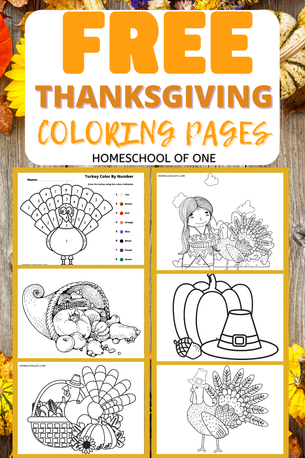 printable coloring pages for thanksgiving free