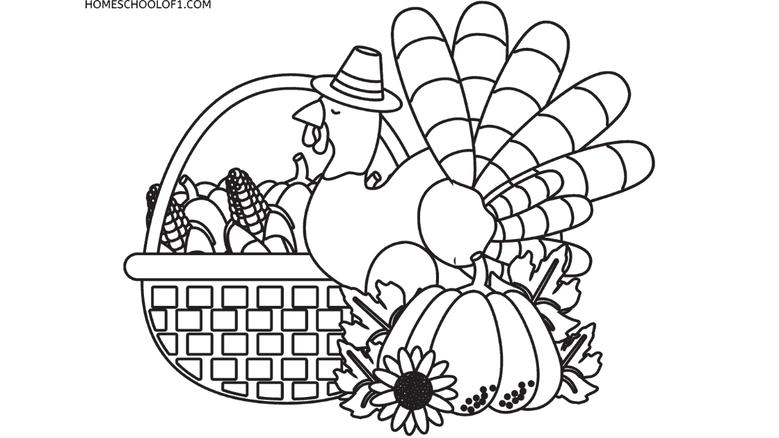8 Awesome Printable Coloring Pages for Thanksgiving FREE